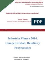 Industria Minera 2014 Proyecciones Economicas Alvaro Merino Sonami