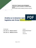 Analiza Si Evaluarea Operatiunilor Logistice Ale Firmei IKEA