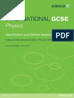 Physics Specification IGCSE