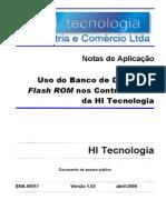 Uso do banco de dados em flash rom nos controladores da hi tecnologia
