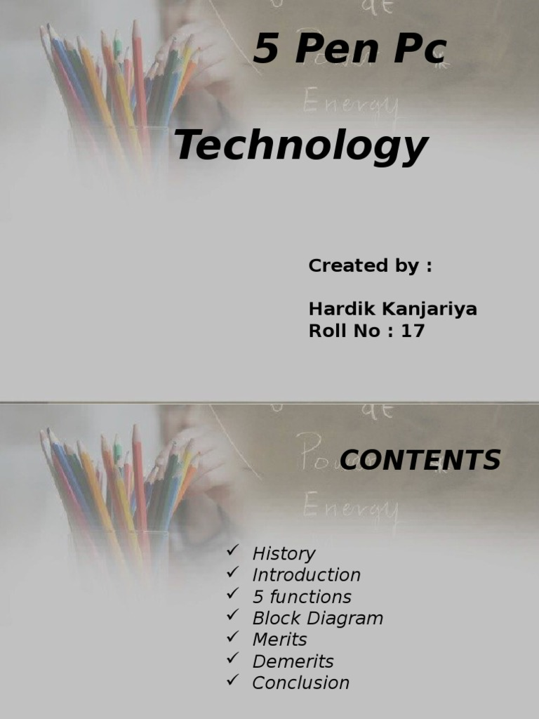 5penpctechnology-140416232324-phpapp02 | Central Processing Unit | Digital  Camera