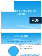 Arc length and area of sector