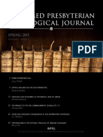 Reformed Presbyterian Theological Journal (Vol. 1, Iss. 2, Spring 2015)