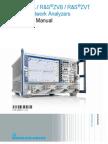 ZVA ZVB ZVT Vector Network Analyzers Operating Manual