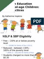child nutrition presentation