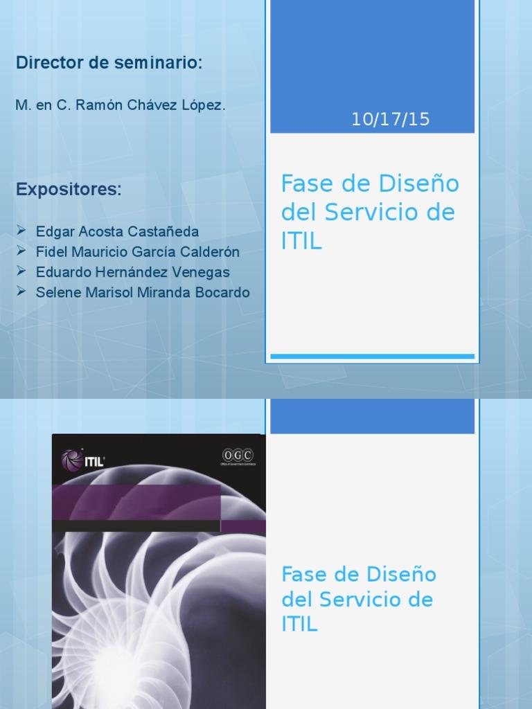 Fase de Diseño de Servicios ITIL