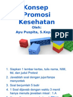 1. Konsep Promosi Kesehatan