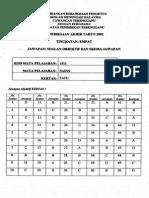 Kertas 1 Pep Akhir Tahun Ting 4 Terengganu 2002