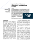 Research Study on Business Intelligence in the Banking Industry