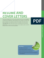 Resume and Cover Letter Section