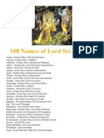 108 Names of Lord Sri Krishna