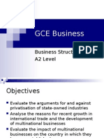 GCE Business Structure A2