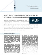 Audit sulla Conservazione Sostitutiva dei documenti