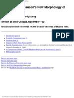 Karlheinz Stockhausen's New Morphology of Musical Time