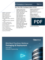 BSA Best Practices Webinar - Packaging 1.2
