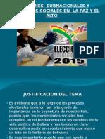 Elecciones Subnacionales y Movimientos Sociales en La Paz Final