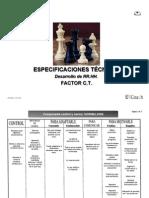 Factor CT - Especificaciones Técnicas