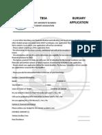 Tbs a Bursary Application