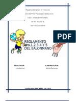 REGLAS  BALONMANO