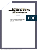 Magyars, Moricz and Mother Languages