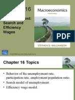 El desempleo, salarios de búsqueda y eficiencia