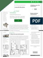 Planos Planos de Casas de Dos Pisos