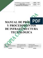 Manual Procesos Procedimientos Infraestructura Tecnologica