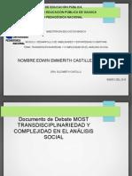 Transdisciplinariedad y Complejidad en El Análisis Social