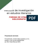 Citaje y Bibliograf A