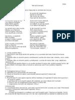 Test Evaluare - Raportul Dintre Realitate Și Literatură, Lexic, Vocabular Clasa 5 Editura Tamar