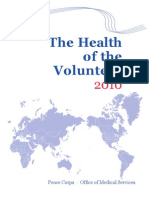 Peace Corps The Health of the Volunteer 2010 Annual Report of Volunteer Health