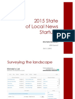 2015 State of Local News Startups