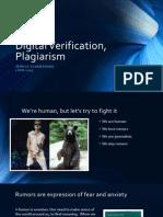 Digital Verification and Plagiarism