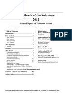 Peace Corps The Health of the Volunteer 2012 Annual Report of Volunteer Health   Hov 2012