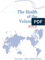 Peace Corps The Health of the Volunteer 2013 Annual Report of Volunteer Health