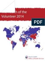Peace Corps The Health of the Volunteer 2014 Annual Report of Volunteer Health   Hov 2014