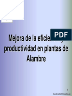 Mejora de la productividad en las plantas de alambre
