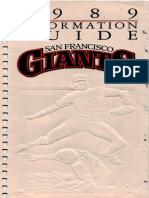 1989 SF Giants Information Guide