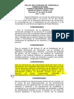 Resolución Paridad 2005 No 050401179