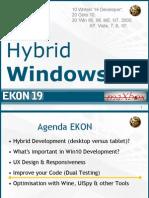 Windows 10 Hybrid Development