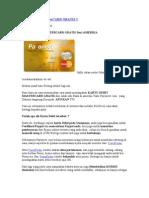 Kartu Debit Master Card Gratis