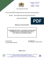 PFE Sur La Contractualisation Interne Des Hopitaux
