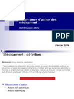 2 Mecanisme d Action Des Medicaments 2014
