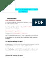 Droit privé Des Affaires Marocain français