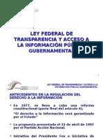 Ley Federal de Transparencia y Acceso a la Información Pública GubernamentalLey Federal de Transparencia y Acceso a la Información Pública Gubernamental
