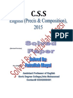 CSS 2015 English Solved Paper