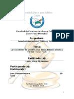 La Extradiccion de Dominicanos a Estados Unidos y Europa (Trabajo Final)