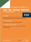 Ley 14580 Salud Mental Prov Bs As