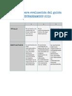 Rúbrica Evaluación Del Guión #EDUNARRAMOOC 2015