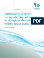 Aquatic Physiotherapy - Guidelines